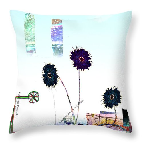 Urban Throw Pillow featuring the digital art City Blooms by Andy Mercer
