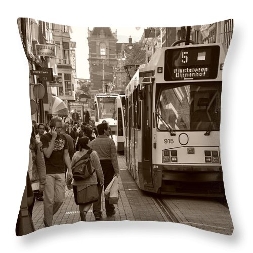 City Throw Pillow featuring the photograph City Commerce by Noah Cole