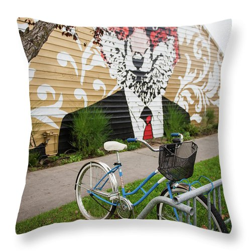 Traverse City Throw Pillow featuring the photograph City Life by Lori Douthat
