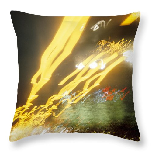 Abstract Throw Pillow featuring the photograph City Lights-5 by Steve Somerville