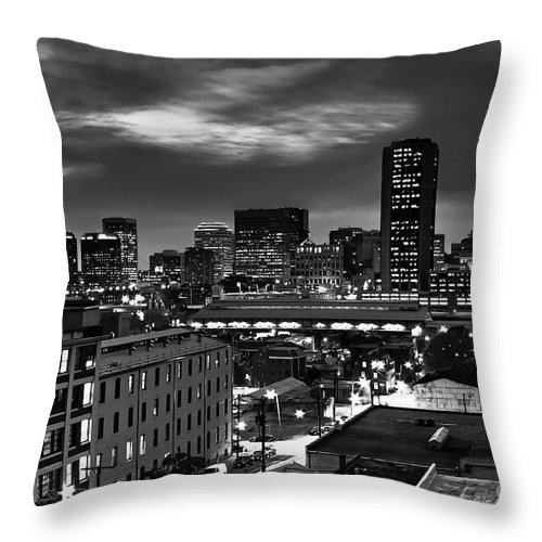 Cityscape Throw Pillow featuring the photograph City Of Richmond Virginia by Tim Wilson