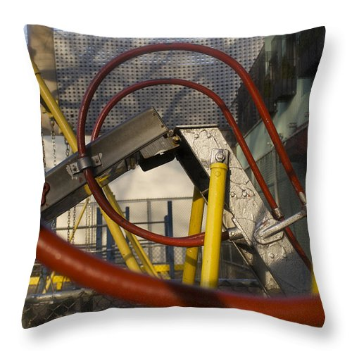 Slide Throw Pillow featuring the photograph City Slides by Henri Irizarri