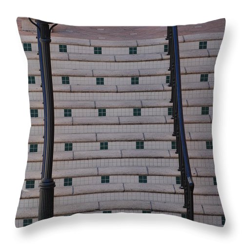 Architecture Throw Pillow featuring the photograph City Stairs by Rob Hans