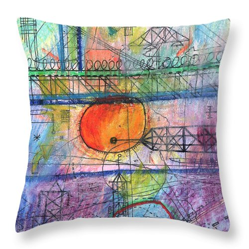 City Throw Pillow featuring the digital art City Sunrise by Andy Mercer
