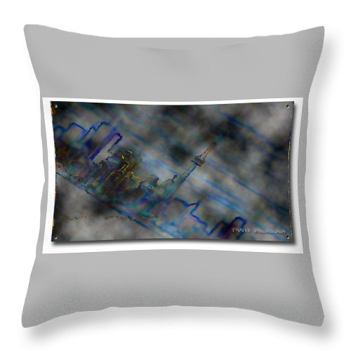 City Throw Pillow featuring the photograph Cityscape by David Healey