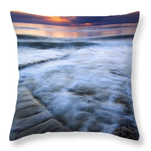 Tides Throw Pillow featuring the photograph Civilization Forgotten by Mike Dawson