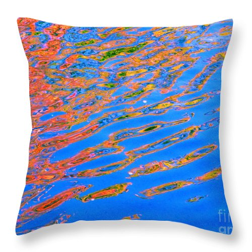 Color Throw Pillow featuring the photograph Claim by Sybil Staples