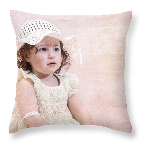 Pink Throw Pillow featuring the photograph Clair 1 by Jacki Marino