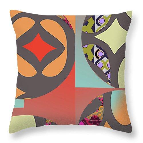 Digital Art Throw Pillow featuring the digital art Claire by Ceil Diskin