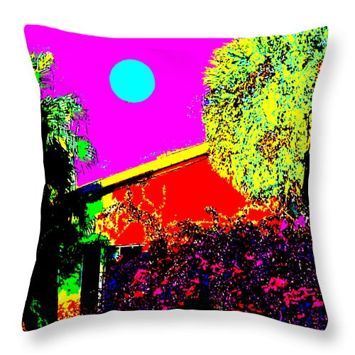 Square Throw Pillow featuring the digital art Clarendon Street by Eikoni Images