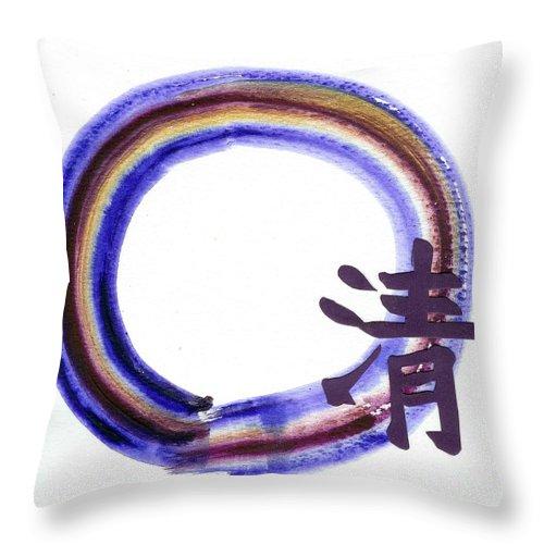 Tao Throw Pillow featuring the painting Clarity by Ellen Miffitt