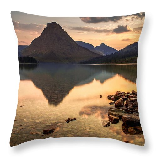 Two Medicine Lake Throw Pillow featuring the photograph Clarity by Tim Bryan
