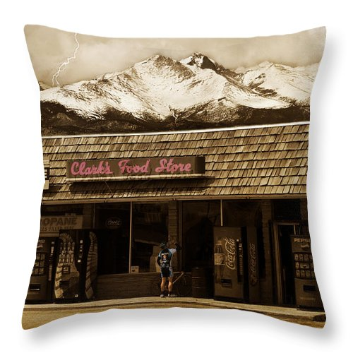 Hygiene Throw Pillow featuring the photograph Clarks Old General Store by James BO Insogna