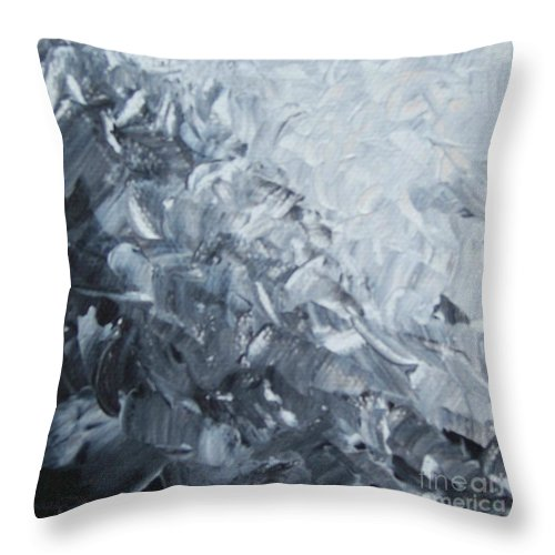 Clash Throw Pillow featuring the painting Clash by Emily Young