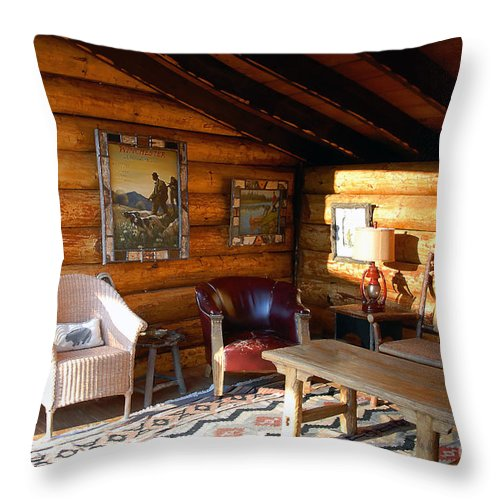 Adirondack Throw Pillow featuring the photograph Classic Adirondack by David Lee Thompson
