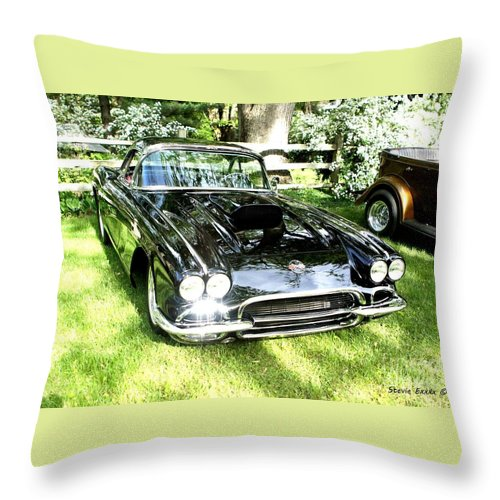 Beauty Car Auto Automobile Photograph Collect Collection Vintage Classic Life Throw Pillow featuring the photograph Classic Beauty. by Stevie Ellis