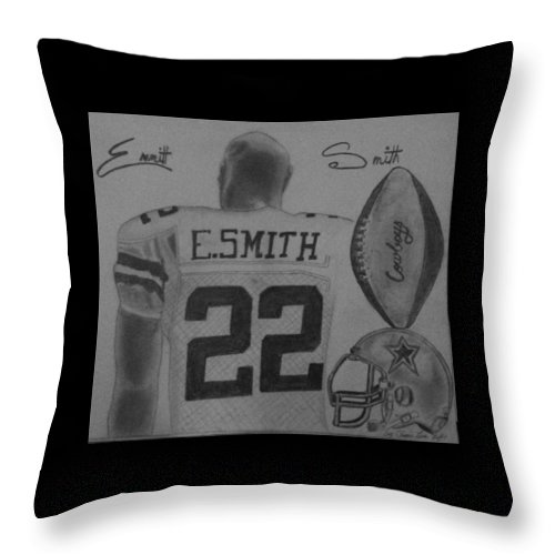 Emmit Throw Pillow featuring the painting Classic Football by Love Reyes