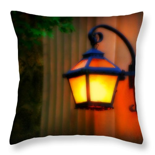 Light Throw Pillow featuring the photograph Classic Lamp by Perry Webster
