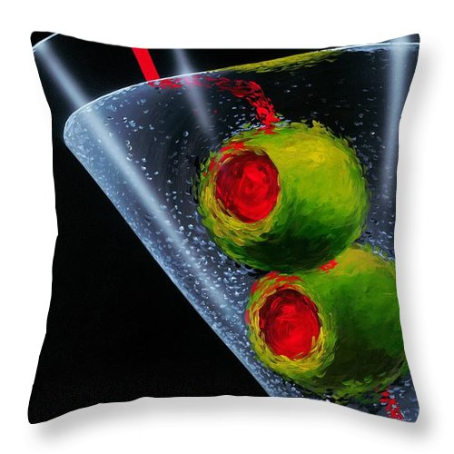 Martini Throw Pillow featuring the painting Classic Martini by Michael Godard