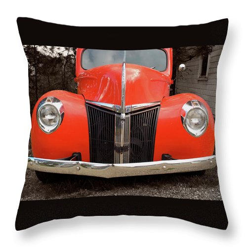 Classic Car Throw Pillow featuring the photograph Classic Pick Up Truck by Herman Robert