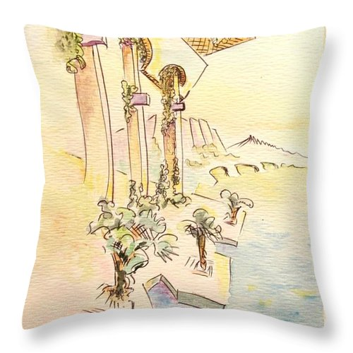 Italian Throw Pillow featuring the painting Classic Summer Morning by Dave Martsolf