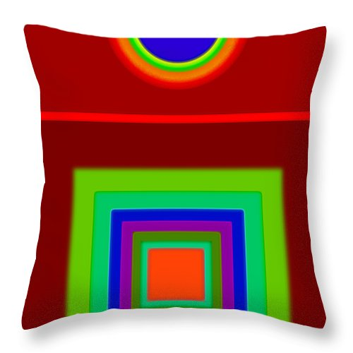 Classical Throw Pillow featuring the digital art Classic Terracota by Charles Stuart