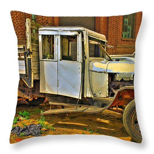 Cars Throw Pillow featuring the photograph Classic Too by Francisco Colon