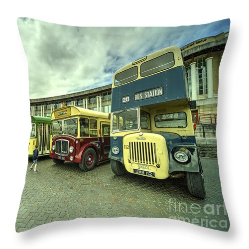 Classic Throw Pillow featuring the photograph Classic Transport by Rob Hawkins