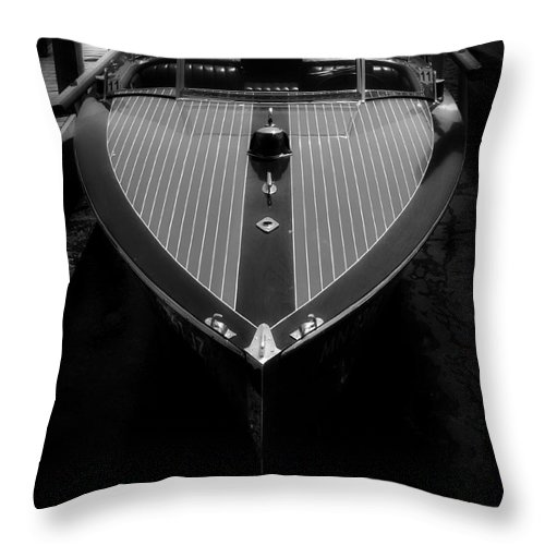 Boat Throw Pillow featuring the photograph Classic Wooden Boat 2 by Perry Webster