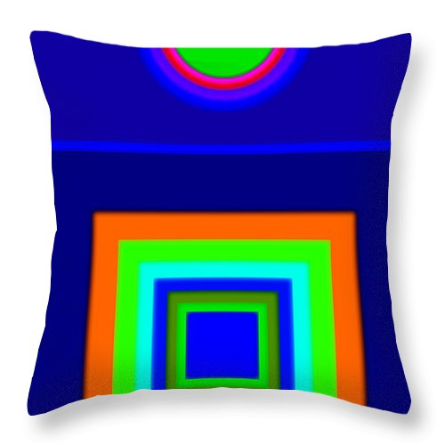 Classical Throw Pillow featuring the painting Classical Blue by Charles Stuart