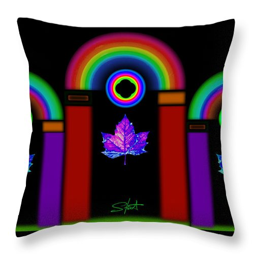 Classical Throw Pillow featuring the painting Classical Neon by Charles Stuart