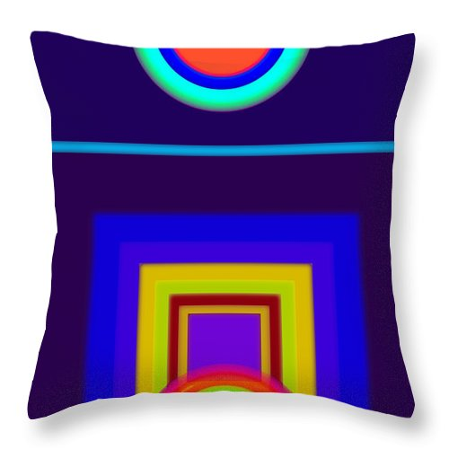 Classical Throw Pillow featuring the painting Classical Night by Charles Stuart