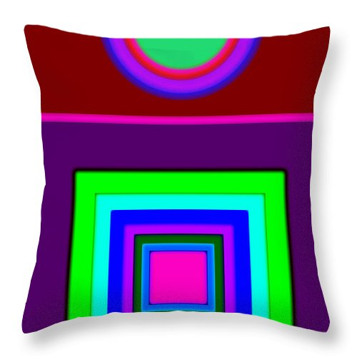 Classical Throw Pillow featuring the painting Classical Violet by Charles Stuart
