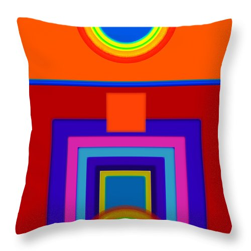 Classical Throw Pillow featuring the painting Classical Wheels by Charles Stuart