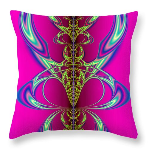 Abstract Throw Pillow featuring the digital art Claws by Frederic Durville