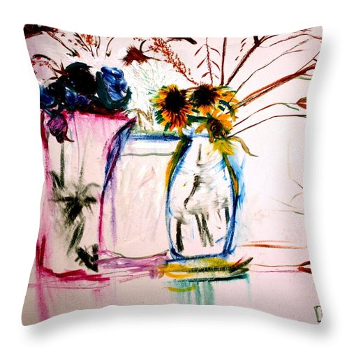 Still Life Throw Pillow featuring the painting Clear by Jack Diamond
