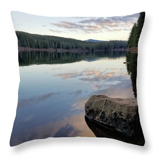 Lake Throw Pillow featuring the photograph Clear Lake, Oregon by Lindy Pollard