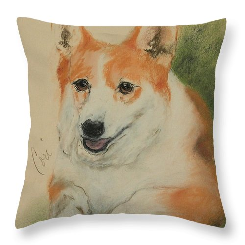 Pastel Throw Pillow featuring the drawing Clear Run by Cori Solomon