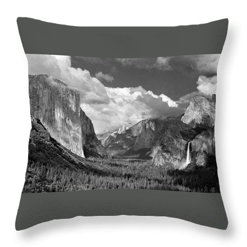 Yosemite Throw Pillow featuring the photograph Clearing Skies Yosemite Valley by Tom and Pat Cory