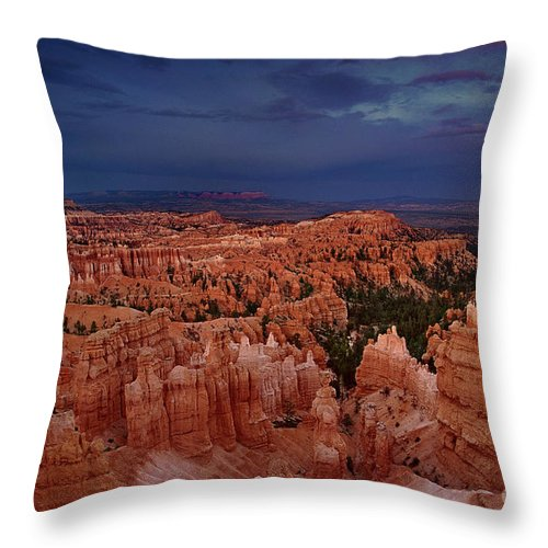 North America Throw Pillow featuring the photograph Clearing Storm Over The Hoodoos Bryce Canyon National Park by Dave Welling