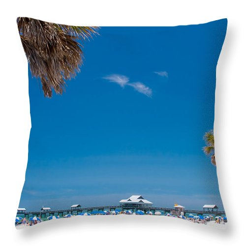 3scape Throw Pillow featuring the photograph Clearwater Beach by Adam Romanowicz