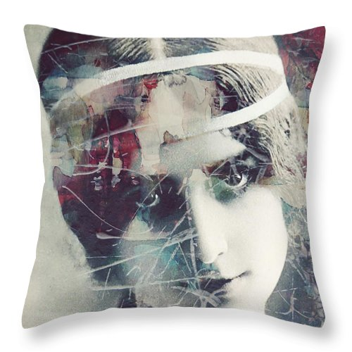 French Throw Pillow featuring the painting Cleo De Merode by Paul Lovering