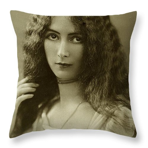 Cleo Throw Pillow featuring the photograph Cleo De Merode by Unknown