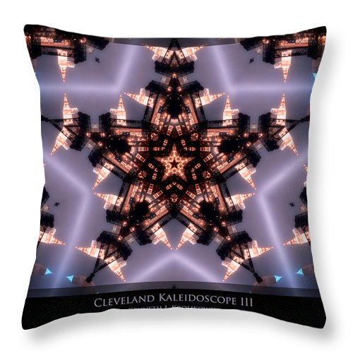 Cleveland Throw Pillow featuring the photograph Cleveland Kaleidoscope IIi by Kenneth Krolikowski