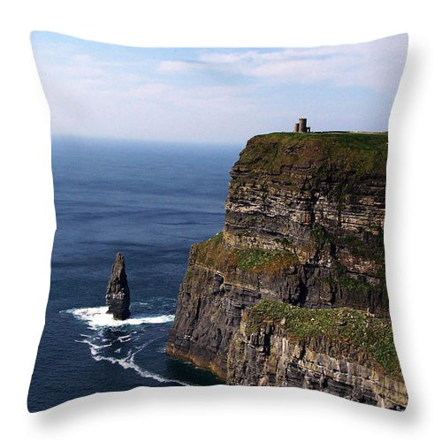 Irish Throw Pillow featuring the photograph Cliffs Of Moher County Clare Ireland by Teresa Mucha