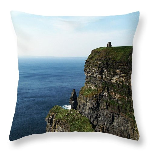 Irish Throw Pillow featuring the photograph Cliffs Of Moher Ireland by Teresa Mucha