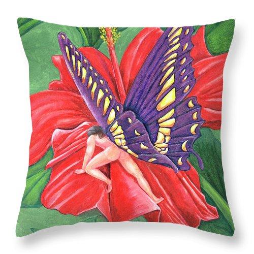 Climb Throw Pillow featuring the painting Climb by Bobby Jones