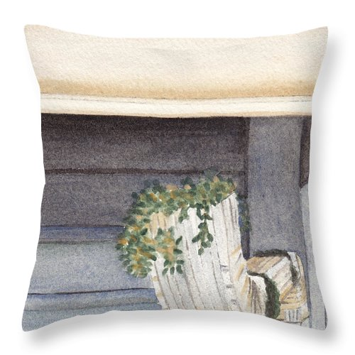 Gutter Throw Pillow featuring the painting Climbing Out Of The Gutter by Ken Powers