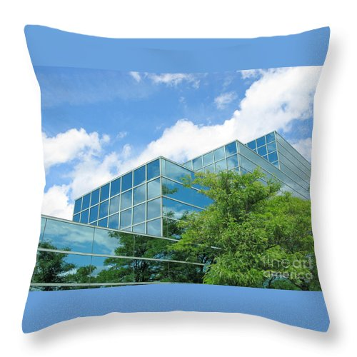 Architecture Throw Pillow featuring the photograph Climbing Skyward by Ann Horn
