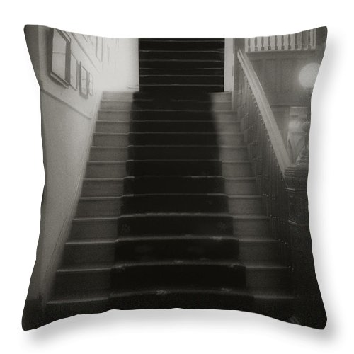 Black And White Throw Pillow featuring the photograph Climbing Toward The Unknown by RC DeWinter